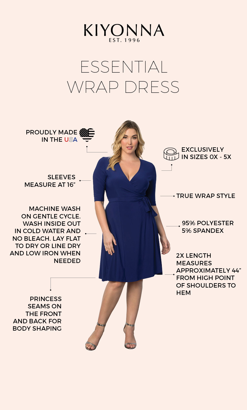 6699f1bff823f Real Curves for Essential Wrap Dress ...