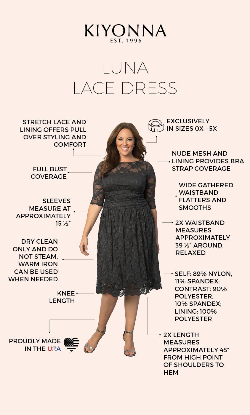 Kiyonna Clothing: Luna Lace Dress