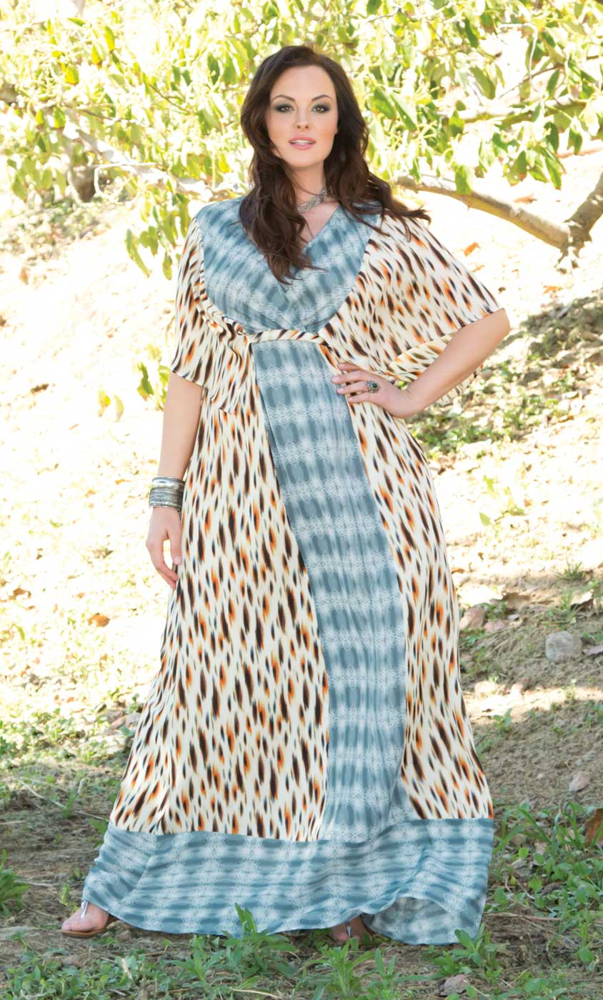 Trendy Maxi Dress For Plus Size Bohemian Breeze Maxi Dress