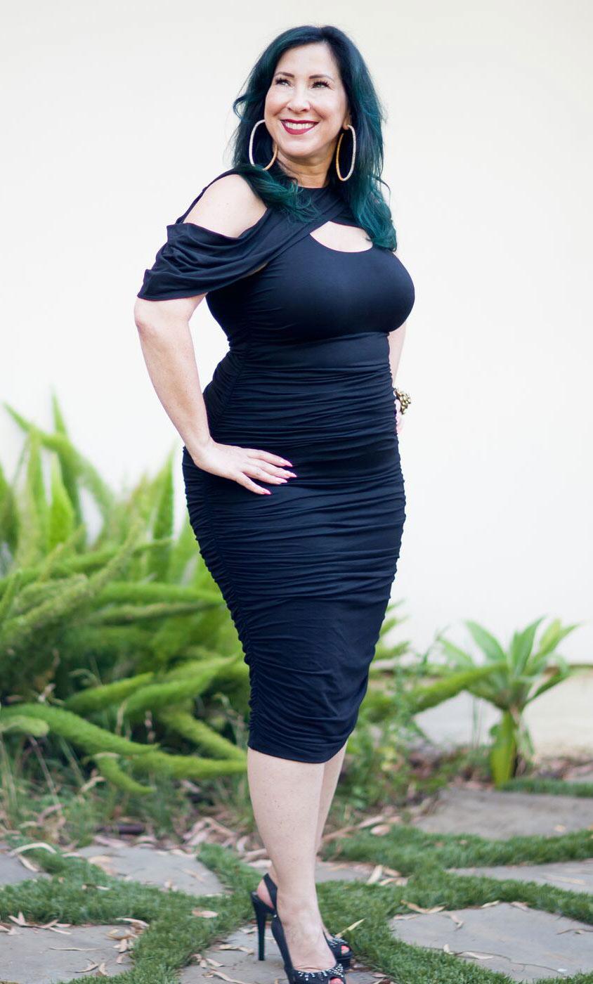 Bianca Ruched Dress Plus Size Bodycon Dress Kiyonna