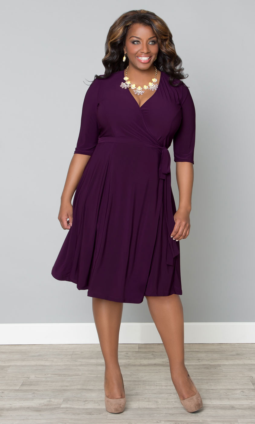 Plus Size Dresses Kiyonna Plus Size Wrap Dresses