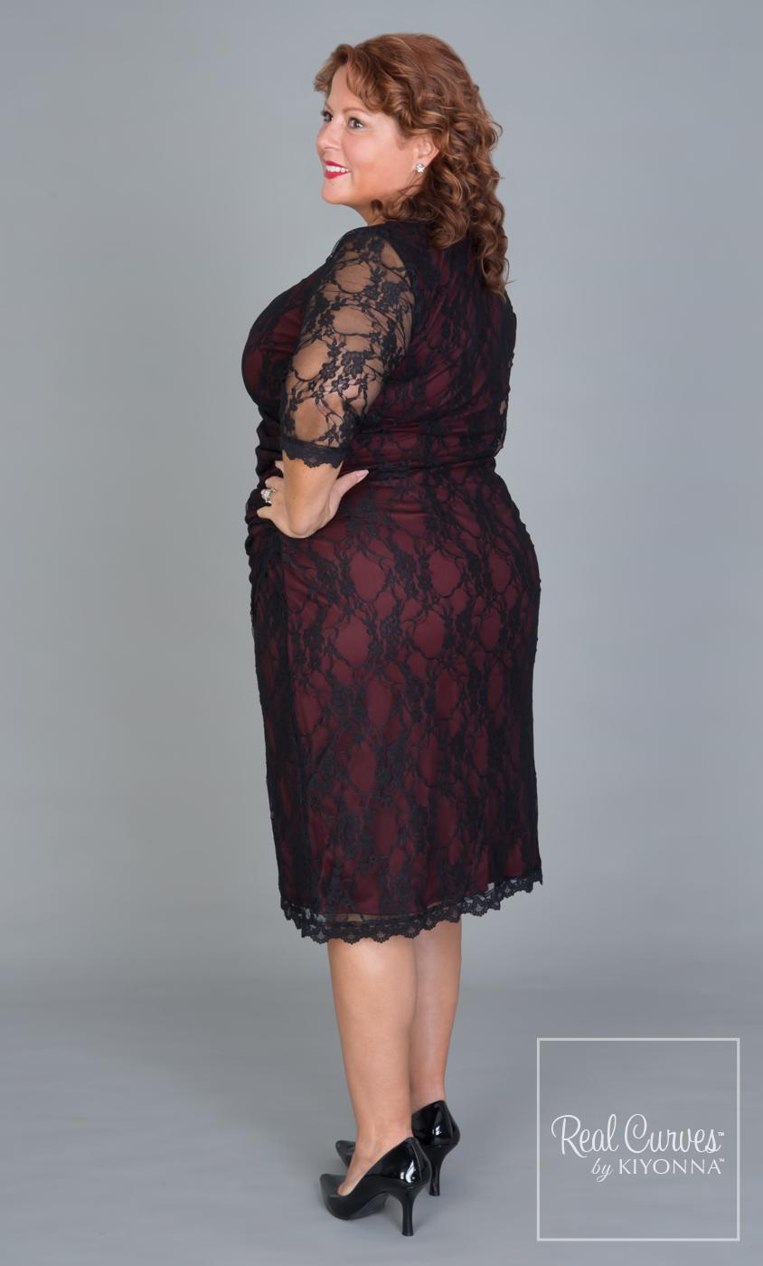 d08661ab81a Real Curves for Gigi Lace Cinch Dress-Sale!