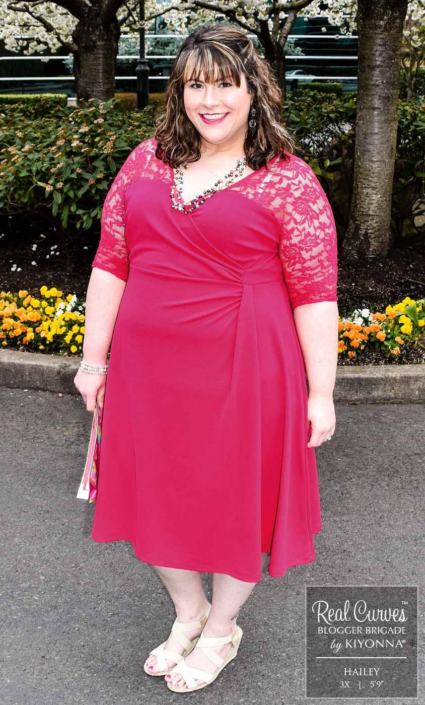 Plus Size White Lace Cocktail Dress | Kiyonna Clothing