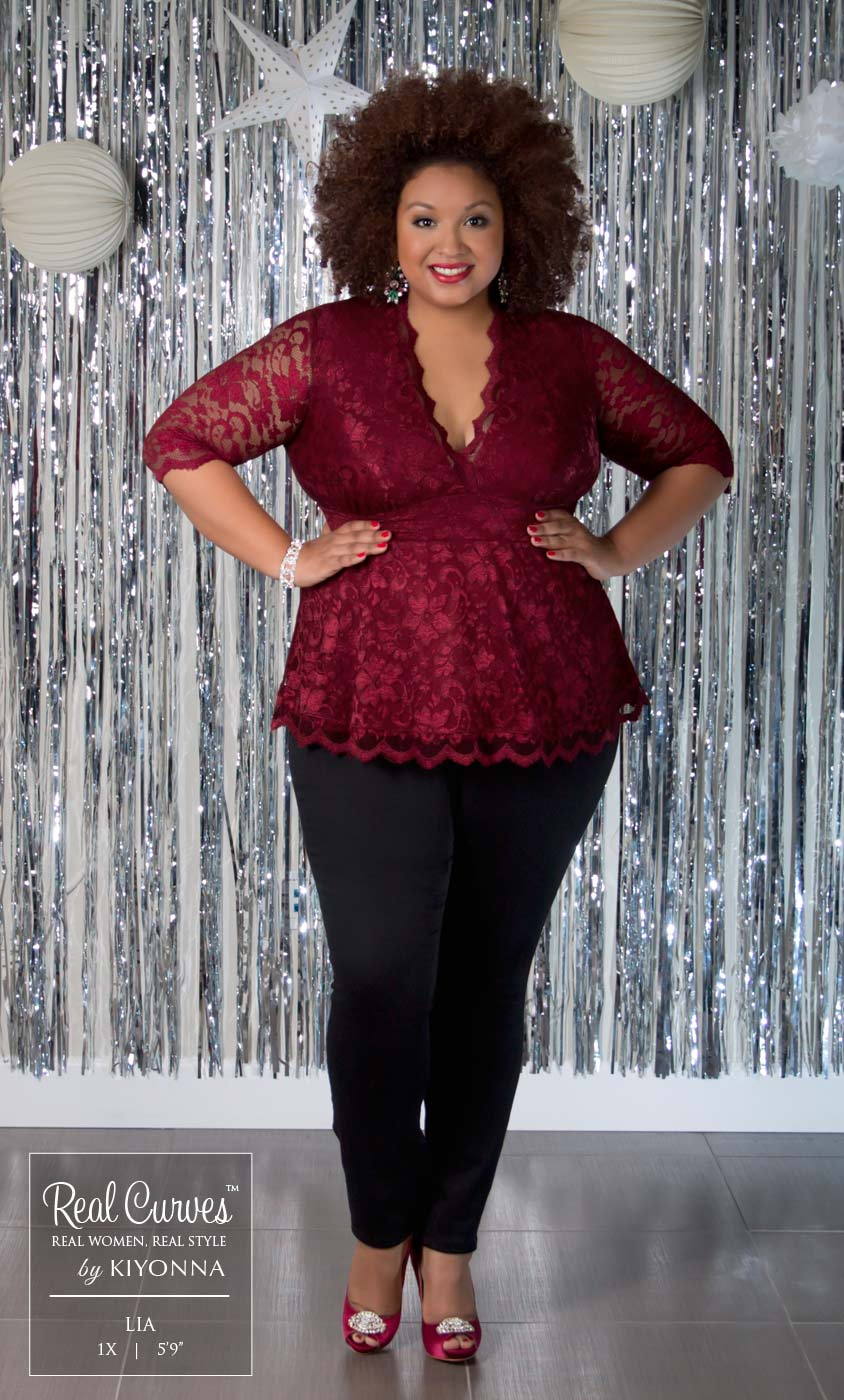 Plus Size Women S Clothing Previous Real Curves For Linden Lace Top