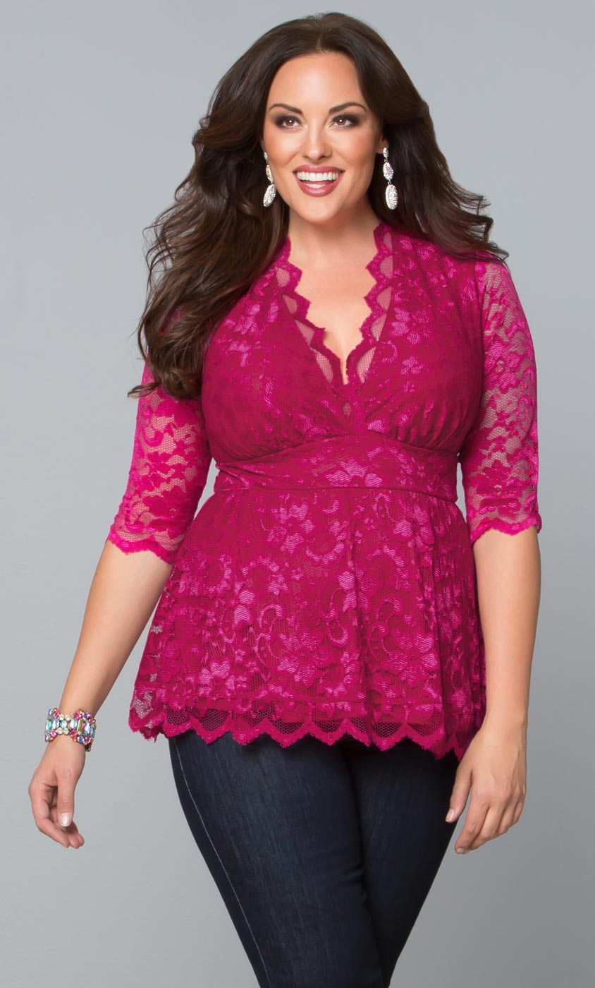Linden Lace Top,  (Women's Plus Size)
