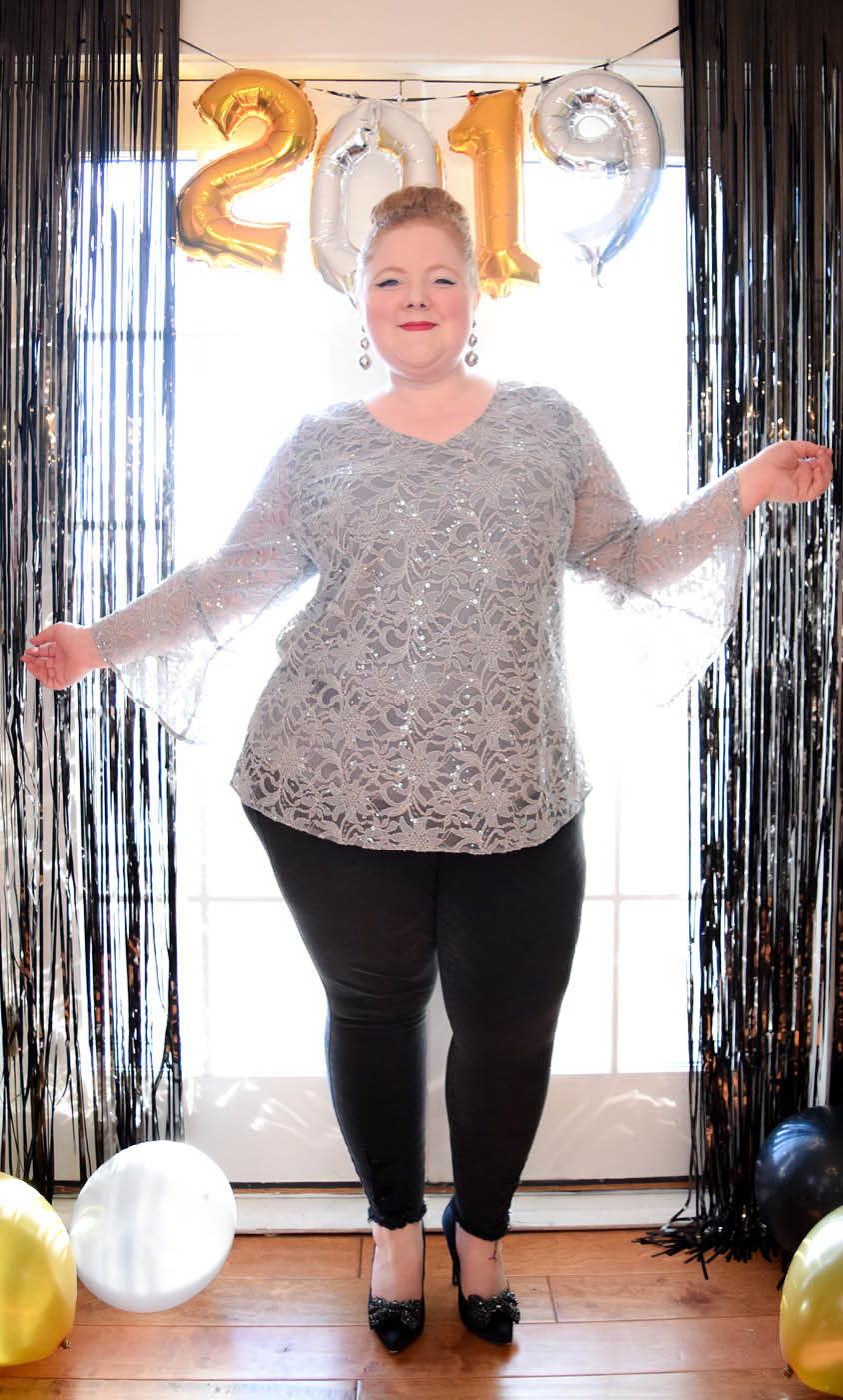 2d774afd6ca309 Real Curves for Savanna Sequin Lace Top - Sale!