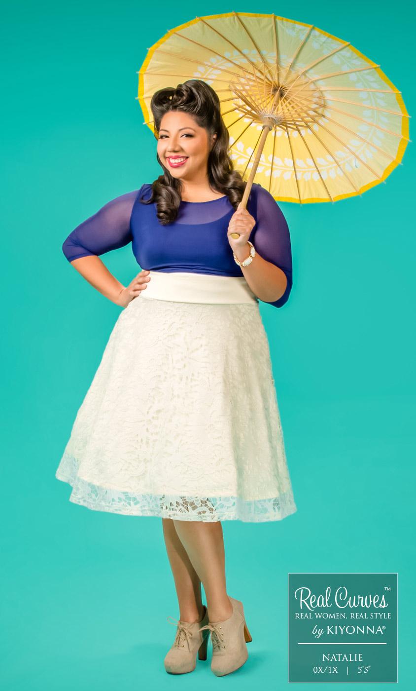 Plus Size Circle Skirt | Matinee Lace Midi Skirt