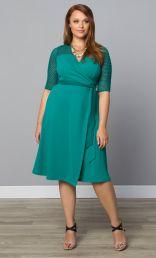 Honeycomb Wrap Dress, Gypsy Teal (Womens Plus Size)