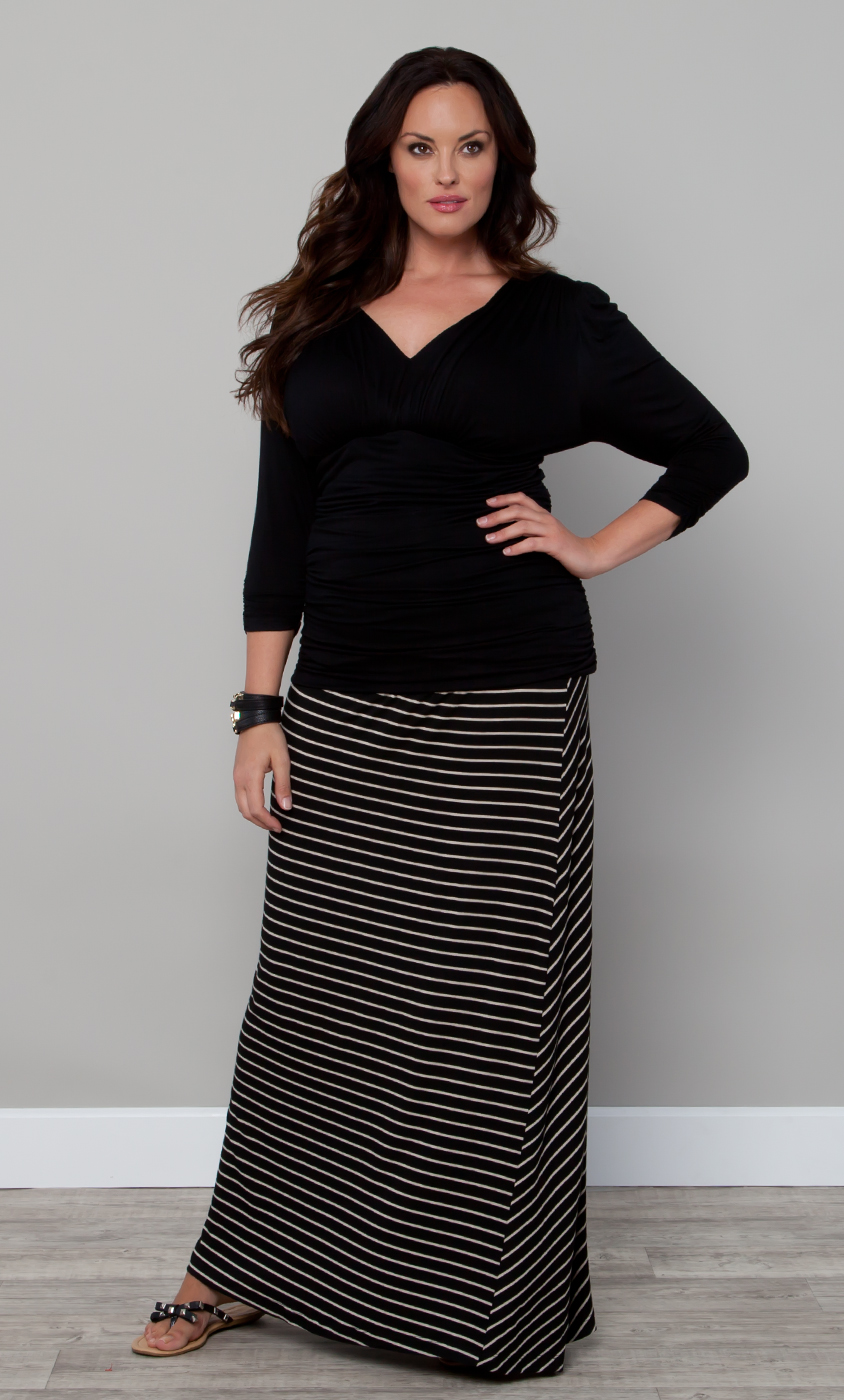 2019 year look- Skirt maxi outfits plus size