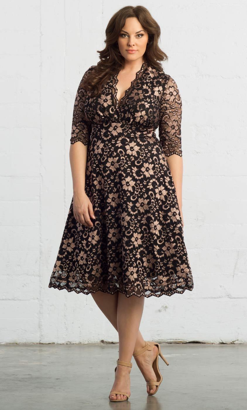 Plus Size Cocktail Dresses | Mademoiselle Lace Dress - photo #7