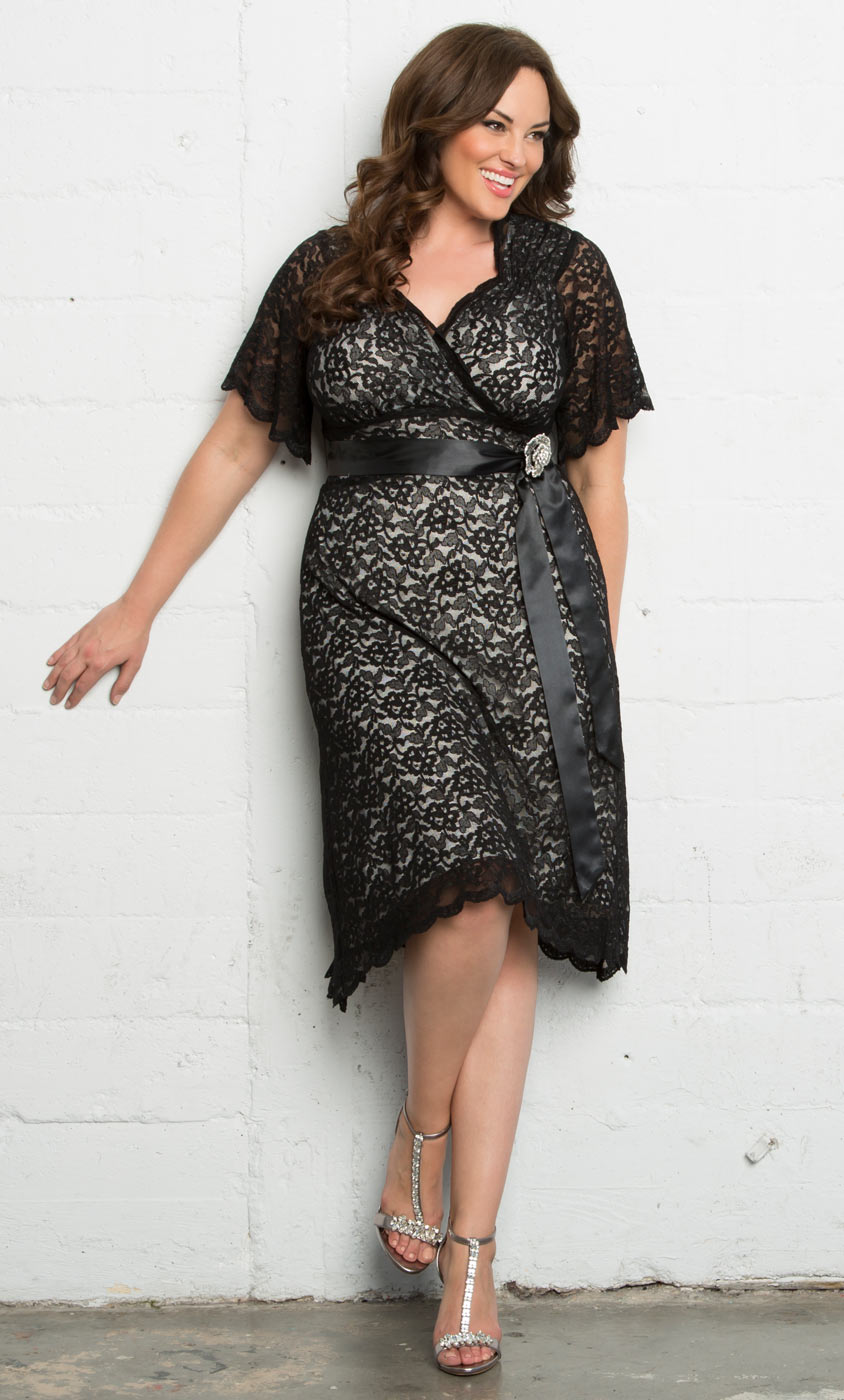 Plus Size Cocktail Dress | Kiyonna Retro Glam Lace Dress