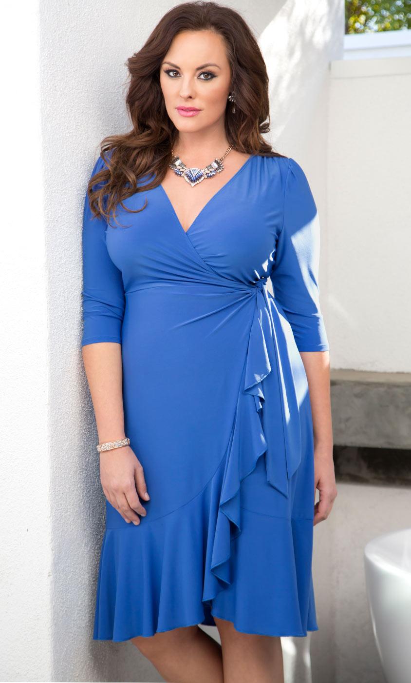 Plus Size Dresses Whimsy Wrap Dress Sale