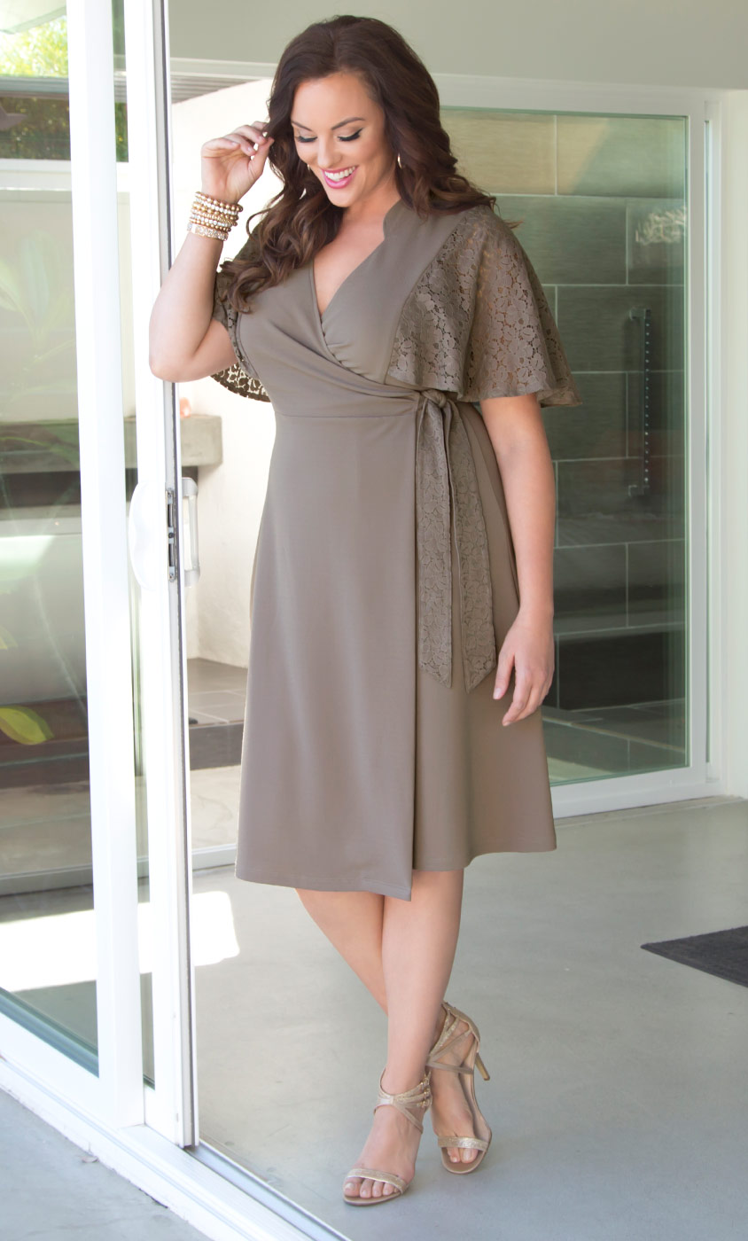 Charming Lace Wrap Dress-Sale!