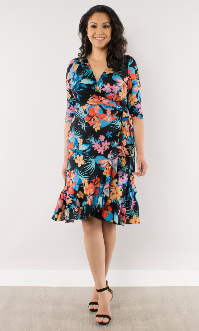 Tropical Escape Wrap Dress-Sale!