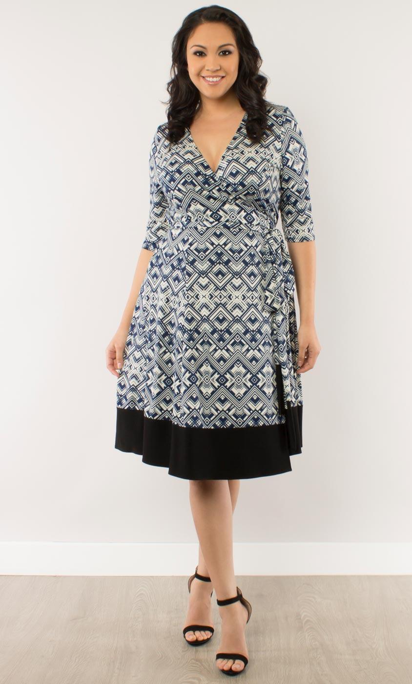 asher wrap dress-sale!: kiyonna clothing