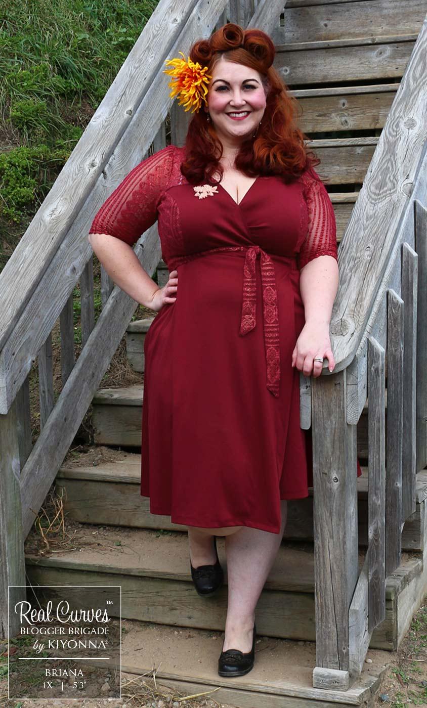 Plus Size Wrap Dress - Ravishing Lace Wrap Dress by Kiyonna