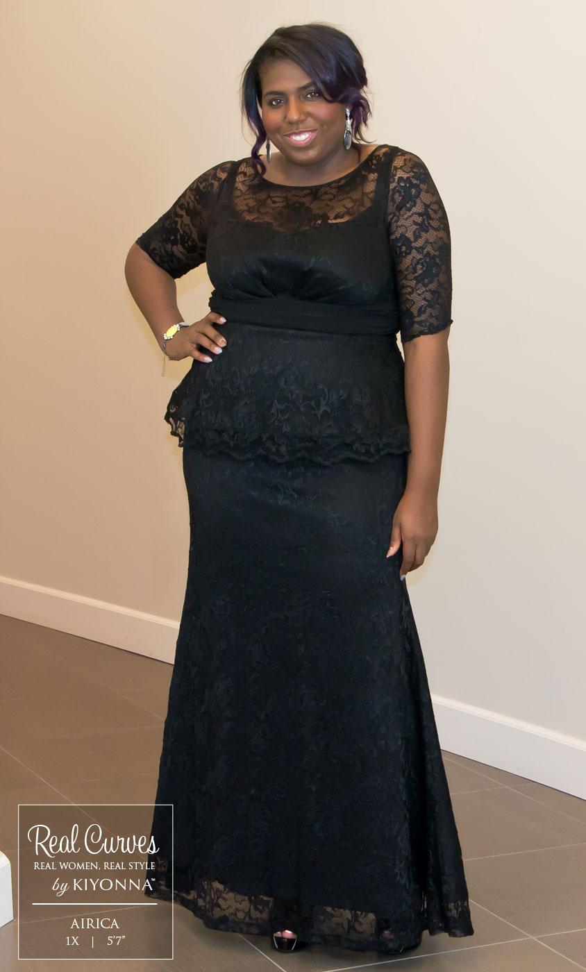 Blue peplum dress plus size - Dress on sale
