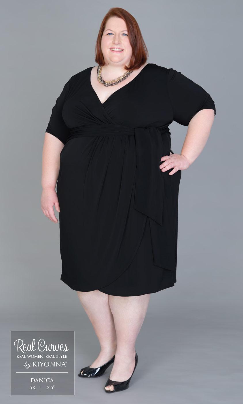 Plus Size Formal Dresses | Harlow Faux Wrap | Kiyonna