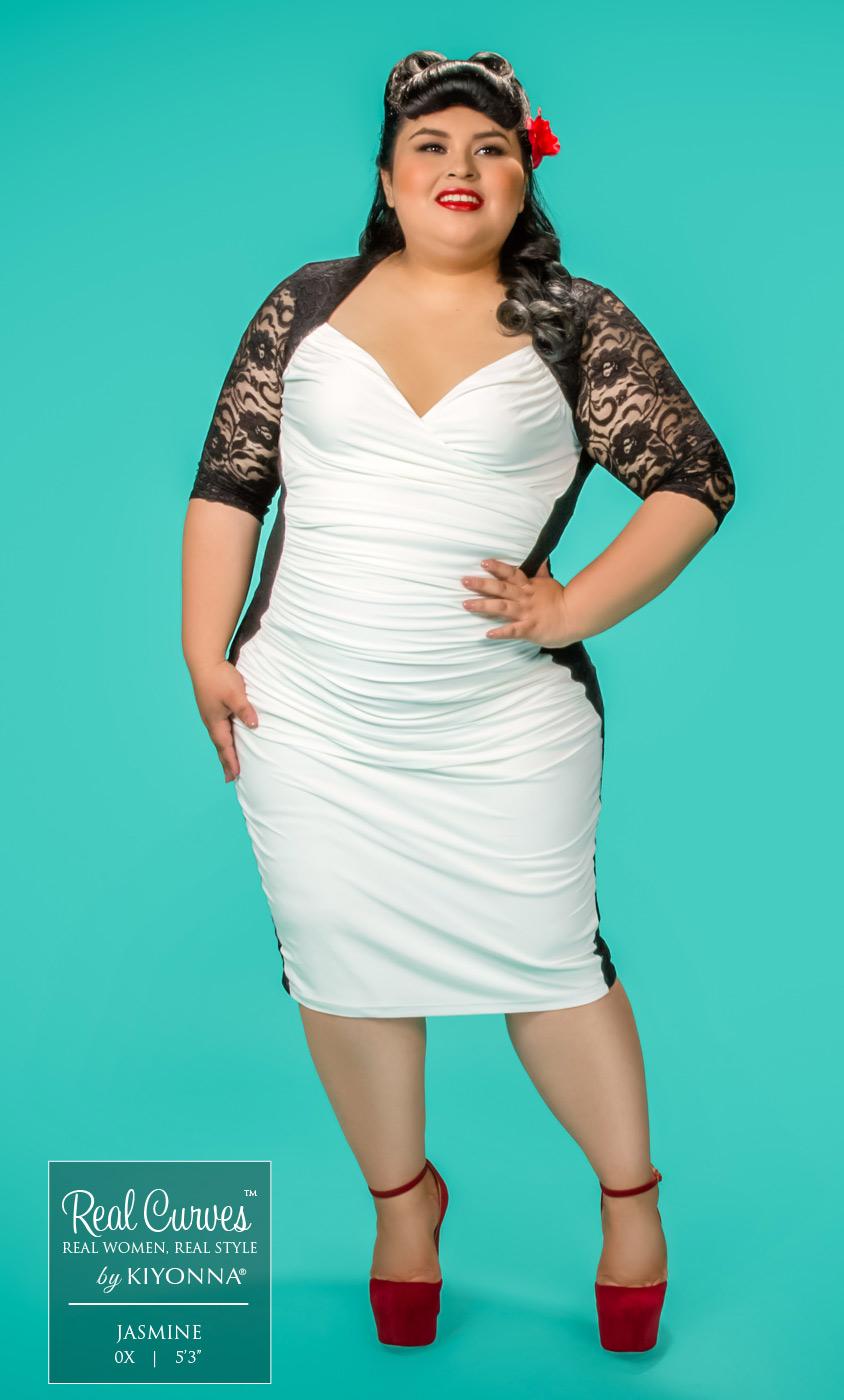 Plus Size Illusion Dress | Hourglass Dress Plus Size