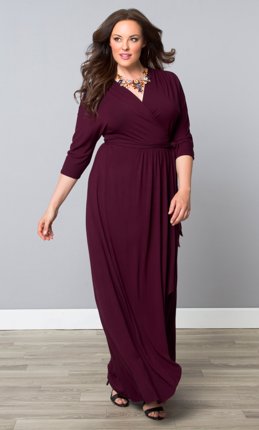 Plus Size Dresses | Kiyonna Plus Size Maxi Dress