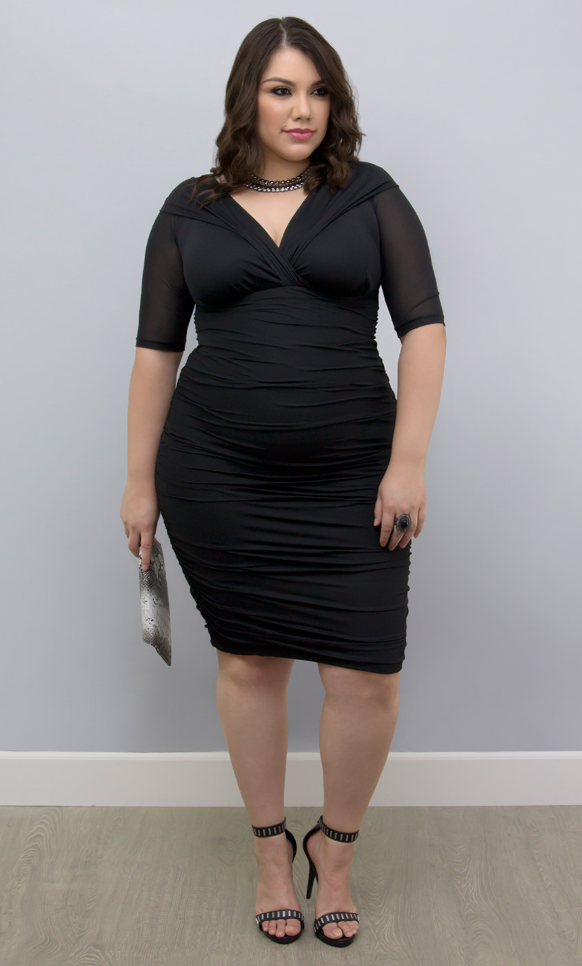 Betsey Ruched Dress-Sale