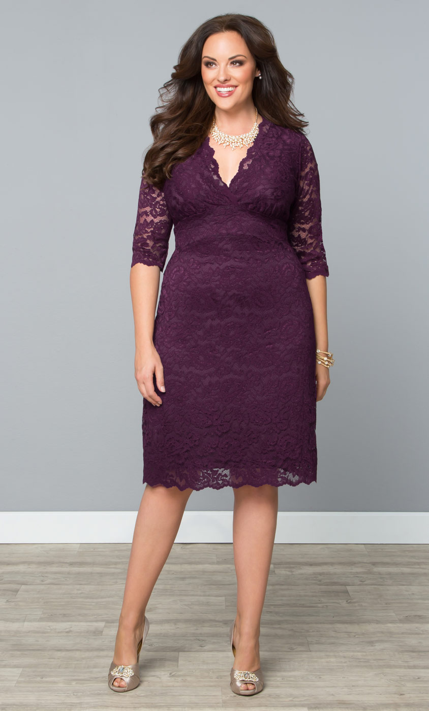 Plus Size Lace Dresses | Scalloped Boudoir Lace Dress by ...