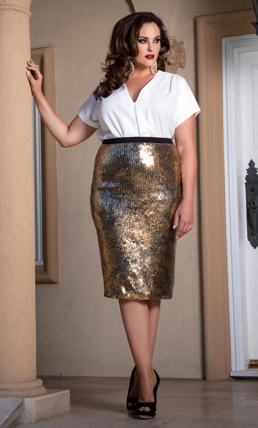 Free shipping Plus Size Sequin Ombre Color Bodycon Skirt COLORMIX XL under $ in Skirts online store. Best Black Dress Plus Size Online and Plus .