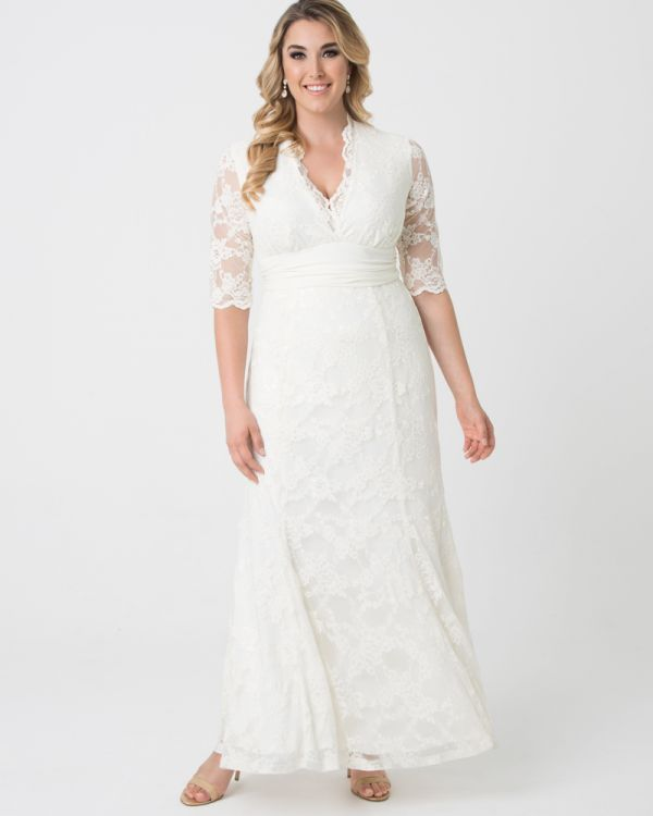 Amour Lace Wedding Gown | Lace Plus Size Wedding Dress