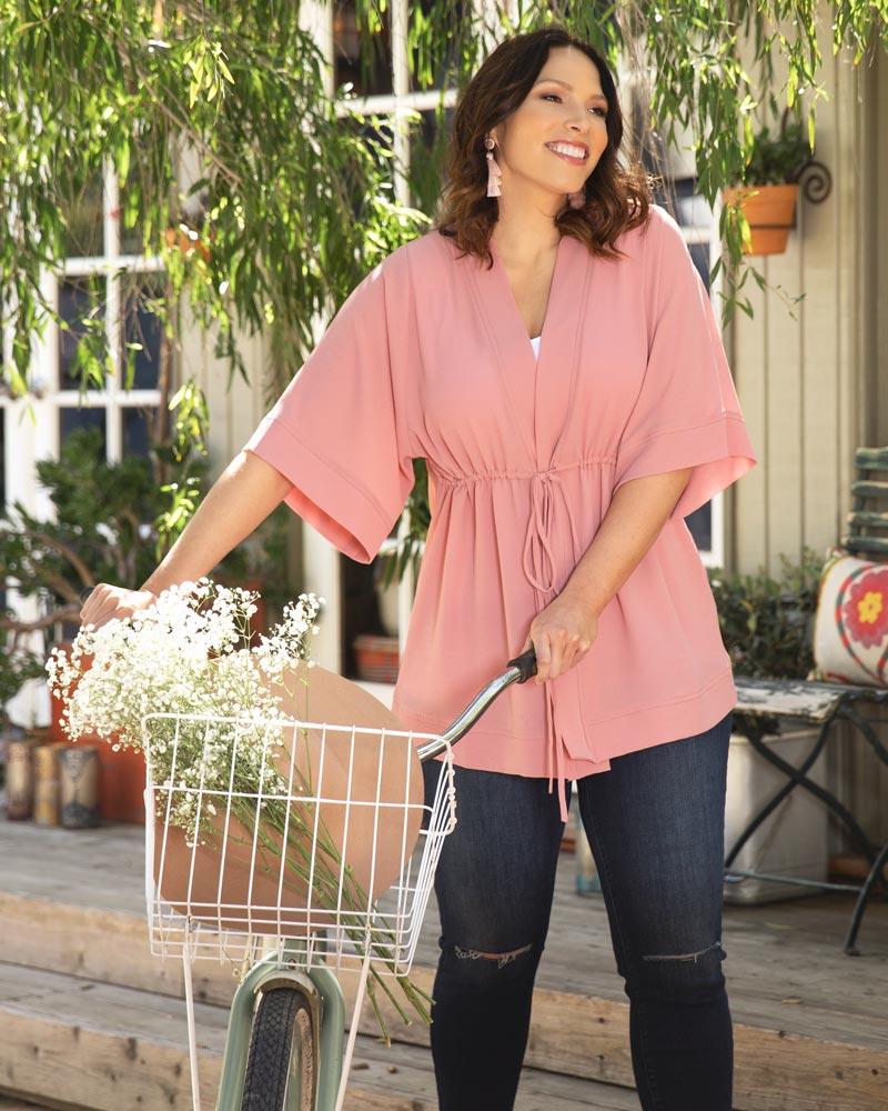 Kiyonna Womens Plus Size Bali Breeze Bellini - Sale!