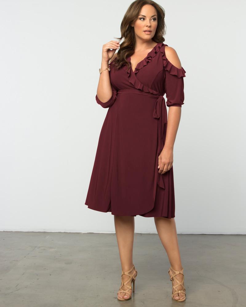 Kiyonna Womens Plus Size Barcelona Wrap Dress-Sale!