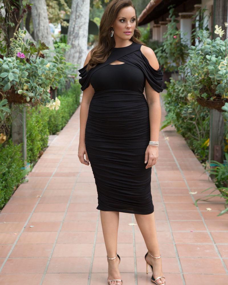 ab92ba64d Bianca Ruched Dress | Plus Size Bodycon Dress | Kiyonna
