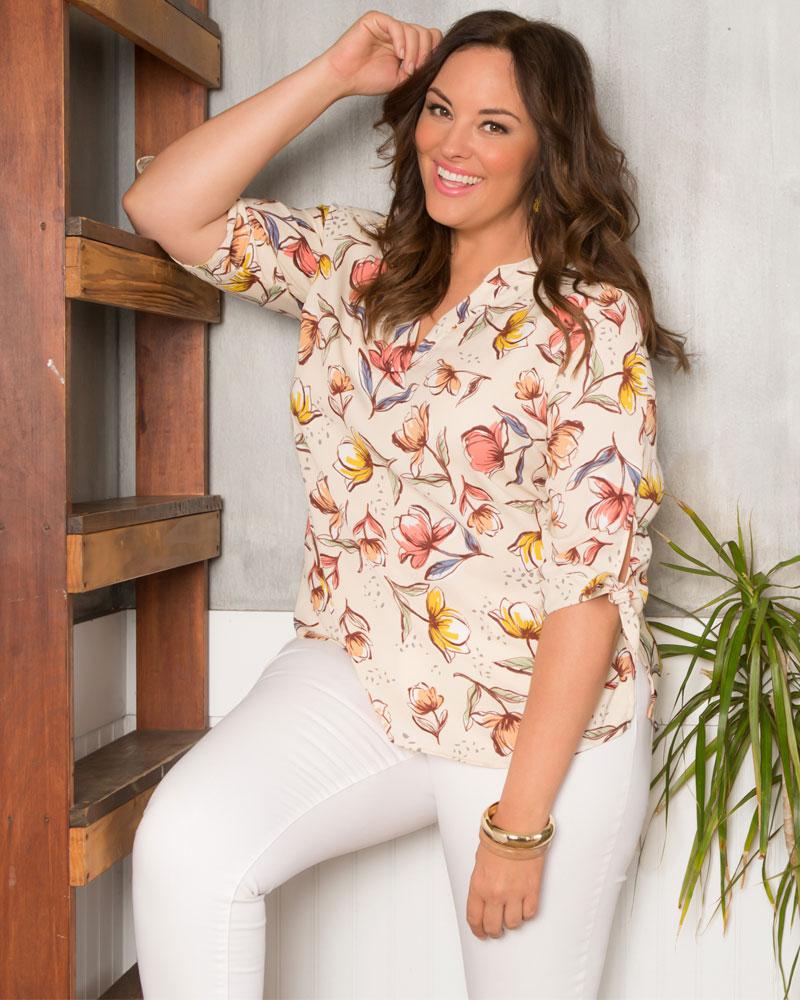 Kiyonna Womens Plus Size Camarella Tunic Top