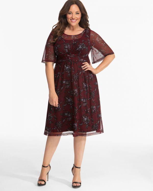 Plus Size Special Occasion Dresses | Katarina Mesh Dress