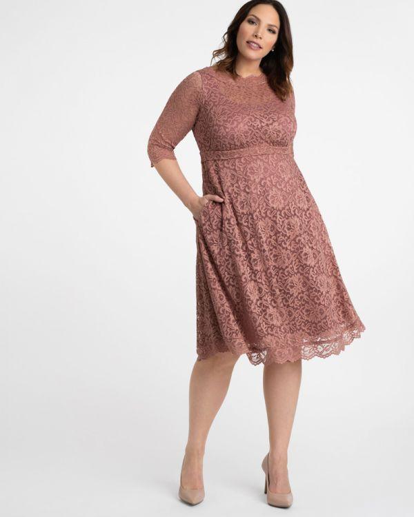 52da42c41af Plus Size Lace Cocktail Dress