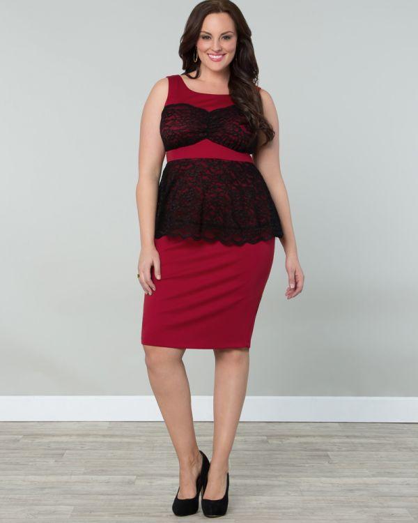 Lady in Lace Peplum Dress-Sale!