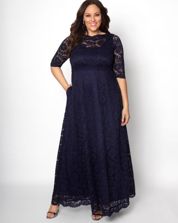 a54f6c869 Leona Lace Dress | Plus Size Formal Gown | Kiyonna