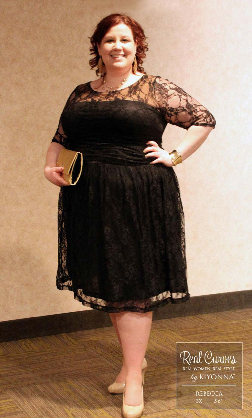 Real Curves For Luna Lace Dress