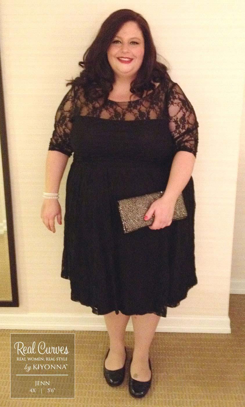 Plus Size Vintage Lace Dress | Kiyonna Lace Dress