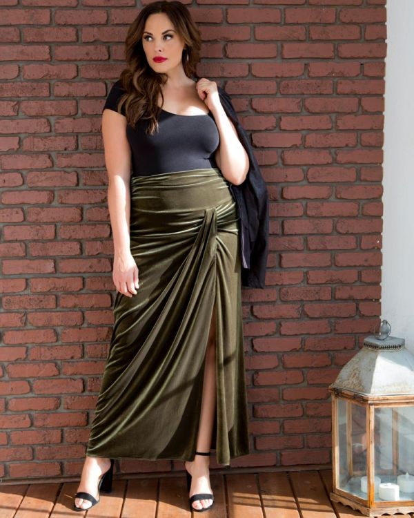 ad9775d6f4b 43153003  Made with Love in the USA Velvet Opulence Maxi Skirt-Sale!