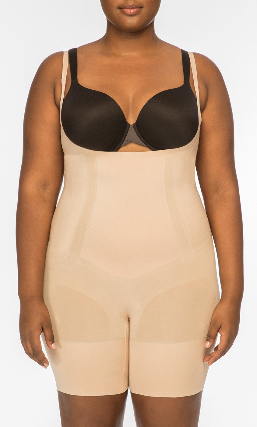 20c952db323fd OnCore Open-Bust Mid-Thigh Bodysuit by SPANX