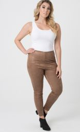 Buffed Suede Leggings by Lysse