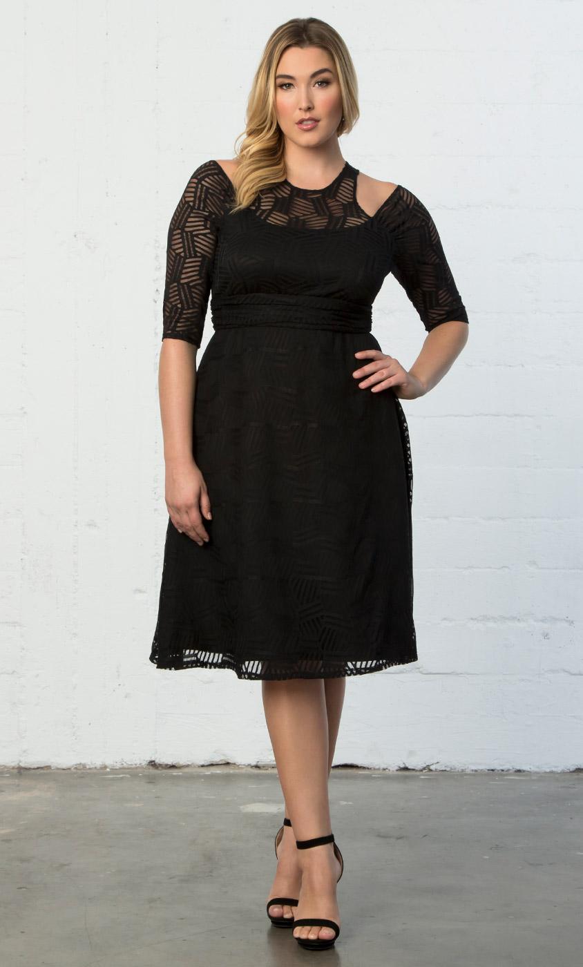 Plus Size Cocktail Dress Audrey Lace Dress