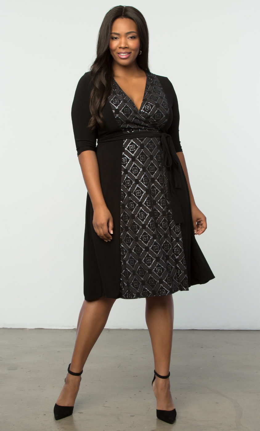 In the Mix Wrap Dress-Sale!