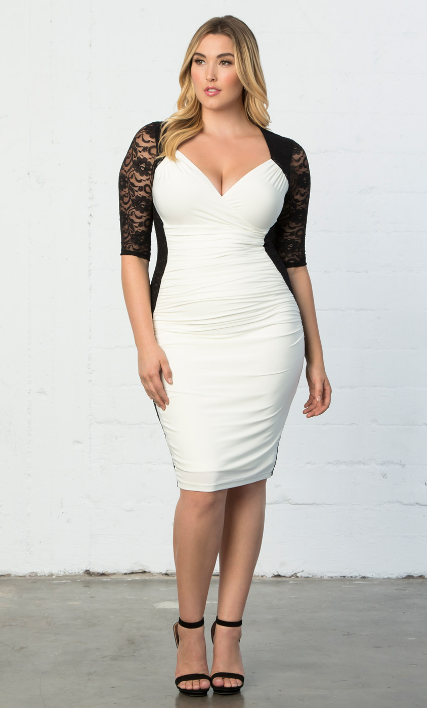Hourglass Illusion Bodycon Dress | Sexy Plus Size Dress