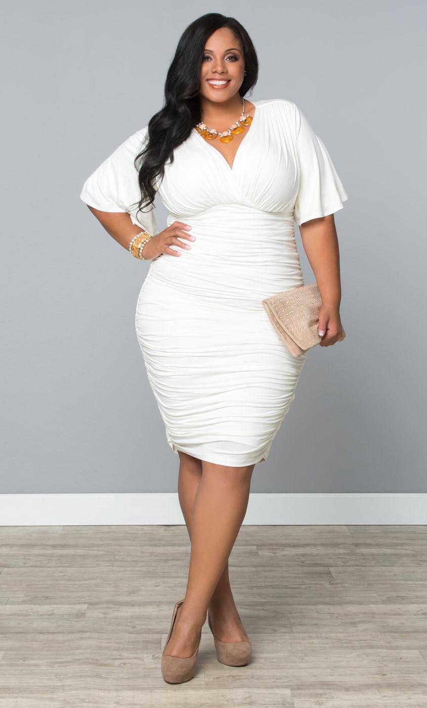 Plus Size White Dress Fashion Life