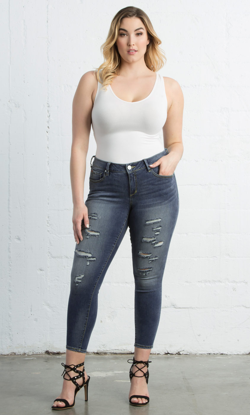7189516d192d0 Ankle Slim Jegging in Danika Wash by Slink Jeans-Sale!