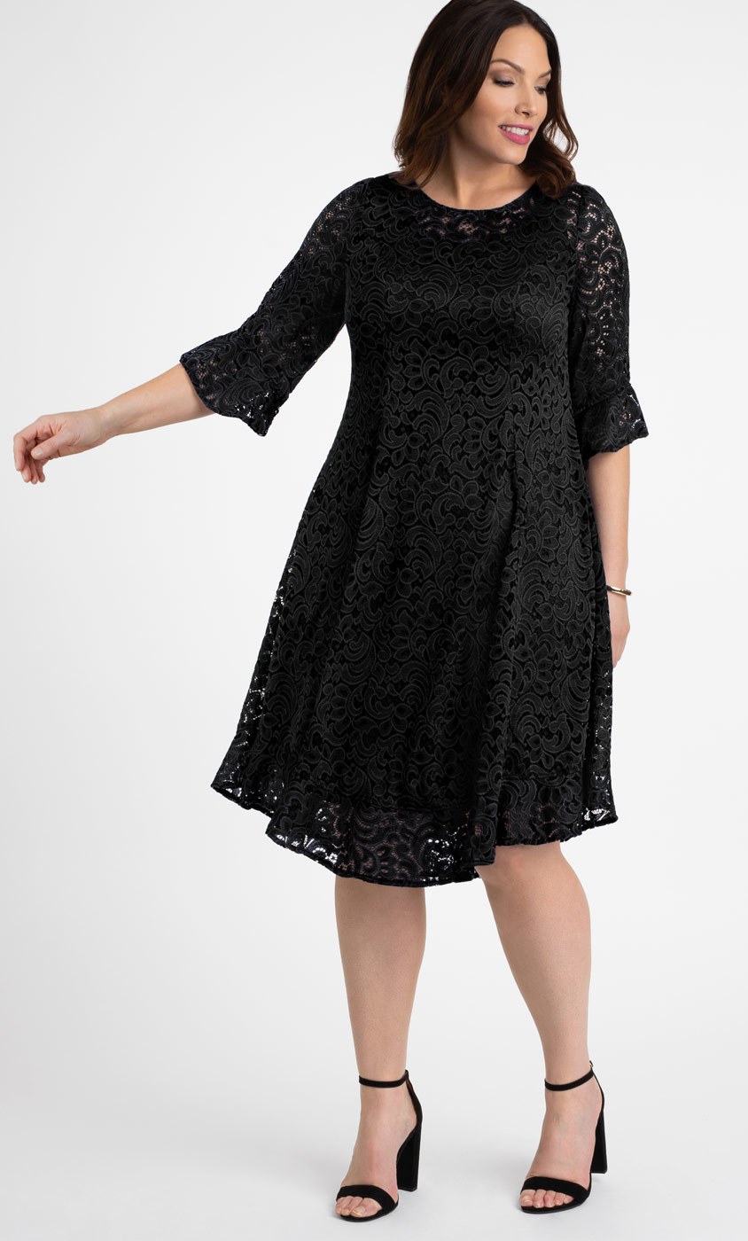 Long Plus Size Dresses with Sleeves