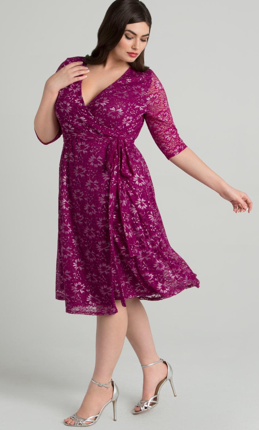 Plus Size Wrap Dresses: Curvy Fashion | Kiyonna Clothing