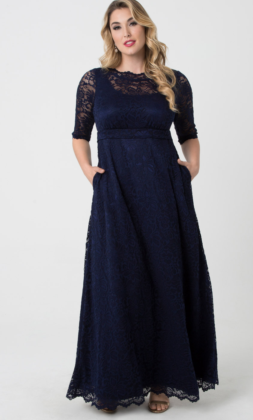 Plus Size Evening Gowns | Leona Lace Gown