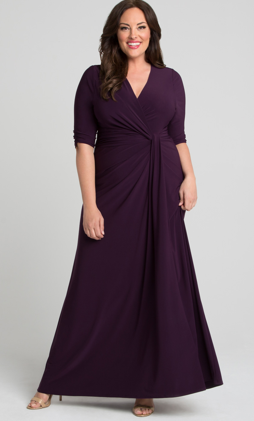 Plus Size Evening Gown with Sleeves | Plus Size Long Formal Dresses